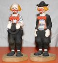 071438 CECIL WAKEFIELD CARVED WOOD FIGURES OF CLOWNS