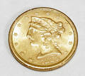 070311 US 1886 S 500 HALF EAGLE GOLD COIN