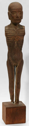 062310 CARVED WOOD EGYPTIAN MAN