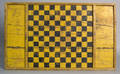 Yellow and black painted checkerboard ca 1900