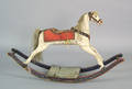 Carved and painted hobby horse 19th c