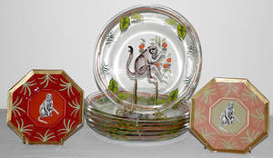 081466 LYNN CHASE DESIGNS GLASS PLATES