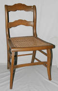 071481 AMERICAN WALNUT  MAPLE CANESEAT SIDE CHAIR