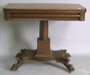 Empire revival card table