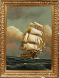 052328 ANDINO OIL ON CANVAS SHIP AT SEA