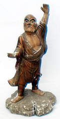 052340 CHINESE CARVED WOOD SCULPTURE PROTECTION