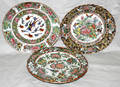 052339 CHINESE ROSE MEDALLION PORCELAIN PLATES