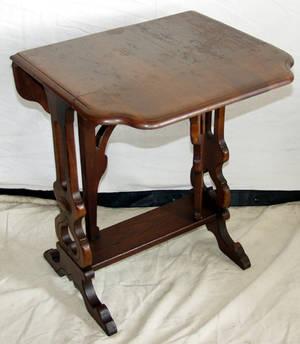050356 EASTLAKE DROPLEAF MAHOGANY TABLE