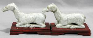 042417 CHINESE APPLE JADE GRAYHOUND DOGS