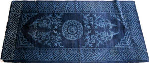 042409 CHINESE COBALT BLUE WOOL RUG 2 0 X 3 10