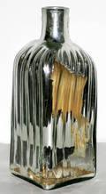 031510 MERCURY GLASS BOTTLE H 16 W 6