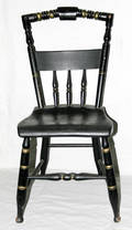 030386 HITCHCOCK PAINTED BLACK SIDE CHAIR 19TH CENTUR