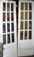 080396 FRENCH WOOD DOORS W GLASS PANES