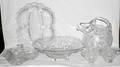 071542 FOSTORIA GLASS WARE ROSE PATTERN