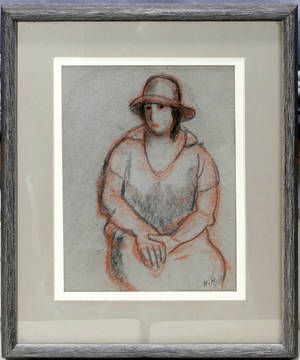 061510 HENRY C ROBERTS PASTEL ON PAPER WOMAN