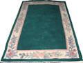041563 INDIAN WOOL BORDER CARPET 7 7 X 4 0