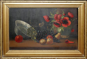 081567 DUTCH SCHOOL OIL ON BOARD STILL LIFE