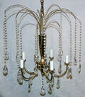 071603 CONTEMPORARY BRASS CHANDELIER