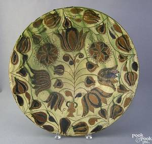 French redware charger late 19th c