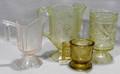 081621 GLASS GROUPING INCLUDING VASELINE CELERY JAR
