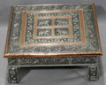 080520 INDIAN COPPER  SILVERED METAL STAND