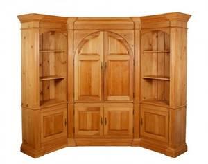 Large Custom Built 3 Pc Pine Corner Cabinet