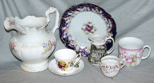 052478 AMERICAN POTTERY PIECES PLUS 3 STAFFORDSHIRE