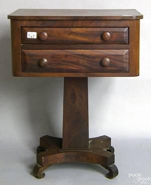 Pennsylvania Empire mahogany work stand