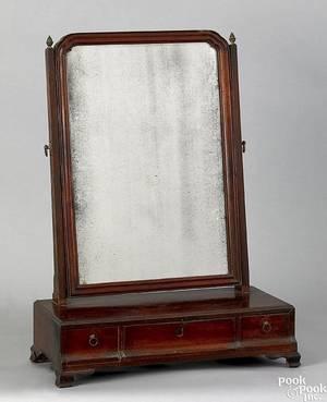 Philadelphia Chippendale mahogany shaving mirror late 18th c