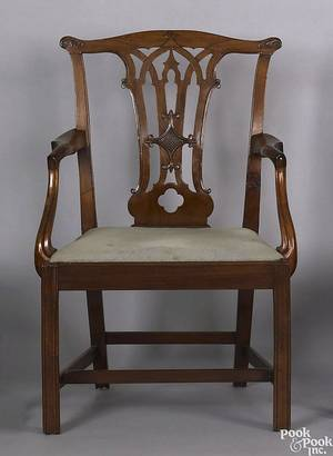 Delaware Valley Chippendale mahogany armchair ca 1790