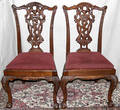 071022 CHIPPENDALE STYLE MAHOGANY SIDE CHAIRS