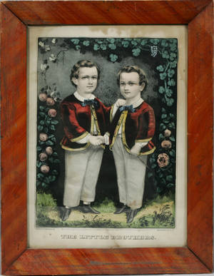 071053 CURRIER  IVES LITHOGRAPH LITTLE BROTHERS