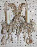 070033 STRAUSS CRYSTAL SCONCES