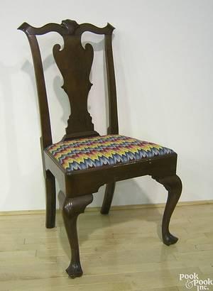 Pennsylvania Queen Anne walnut dining chair ca 1750