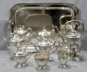061023 REED  BARTON STERLING SILVER TEA  COFFEE SET