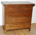 061055 ANTIQUE WALNUT CHEST OF DRAWERS