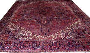 060008 HERIZ PERSIAN WOOL CARPET 10 4 X 13 2