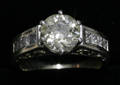 052054 GOLD C 189 CT EUROPEAN CUT DIAMOND RING