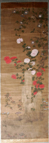 041033 CHINESE SCROLL PAINTING ON SILK