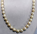 040011 GOLD NECKLACE DIAMOND  SOUTH SEA PEARL