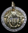 031028 VERSACE 18KT YELLOW GOLD  DIAMOND PENDANT
