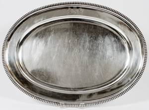 GEORGE III STERLING PLATTER BY THOMAS ROBINS181011