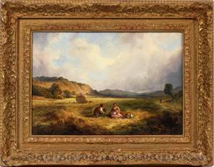 SIGNED OIL PAINTING 19THC
