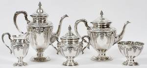MUECKCAREY CO STERLING TEA  COFFEE SET 5 PIECES