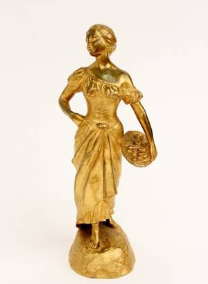 Descomps Gilt Bronze Figural Sculpture