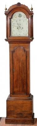 H H ANDREWS OF ROYSTON OAK TALL CASE CLOCK