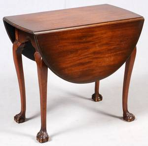ENGLISH MAHOGANY DROPLEAF TABLE LATE 19TH C