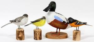 PETER PELTZ BIRD CARVINGS FOUR