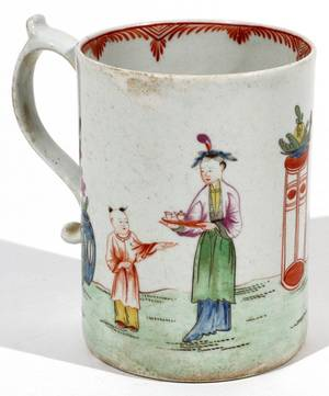 CHINESE EXPORT PORCELAIN MUG C 1800
