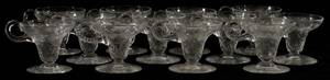 LIBBEY INTAGLIO CUT GLASS PUNCH CUPS SET OF 12